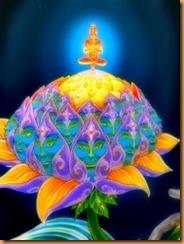 Bouddha sur Lotus