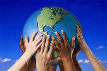 Mains sur la terre