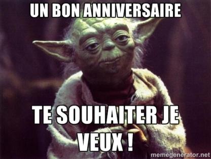 Yoda, te souhaiter je veux