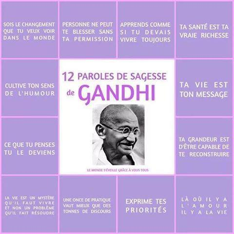 Bevorzugt 12 paroles de sagesse de Gandhi | Le Phare Éclaireur ND76
