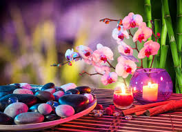 assiette de pierres feng shui