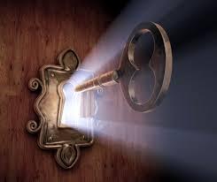 Clef de Lumière dans la porte