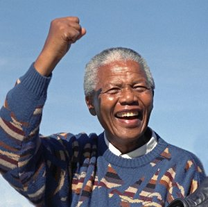 Mandatory Credit: Photo by REX (912539a) Nelson Mandela Nelson Mandela During Election Campaign, Athlone Stadium, Cape Town, South Africa - Mar 1994
